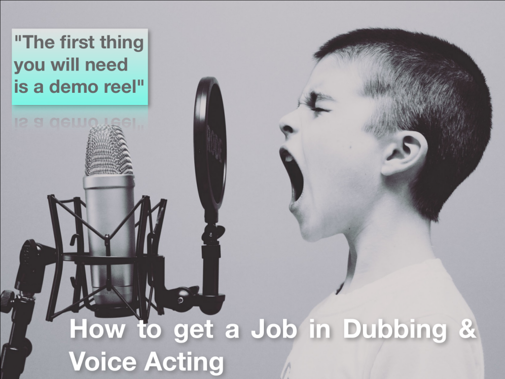 FREE ARTICLE ON HOW TO BECOME A VOICE ACTOR